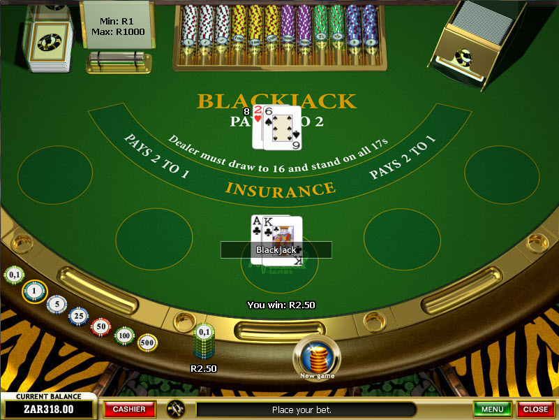 Play American Blackjack at Casino.com South Africa