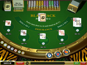 African Palace Casino Blackjack 5 hands
