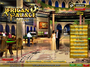 African Palace Casino Lobby