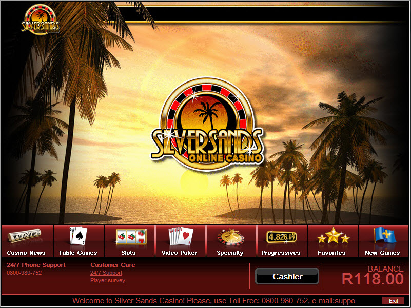 silversands online casino sign up